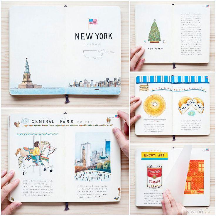 #Travel #journal   Los cuadernos de viaje de la ilustradora Yoshie Kondo - Noveno Ce