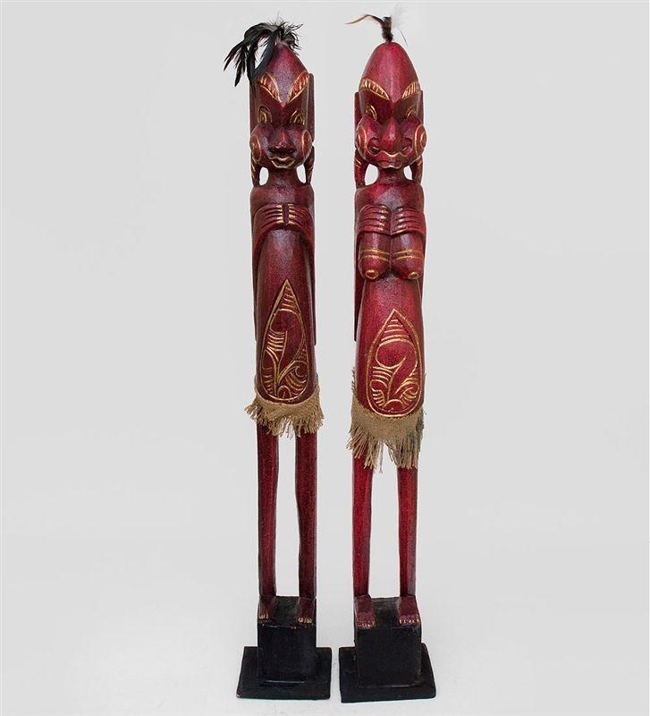 """Статуэтка """"Асмат"""" набор из двух 22-070 Страна производства: Индонезия; Высота: 100 см; #Indonesia #asmat #асматы #Индонезия"""