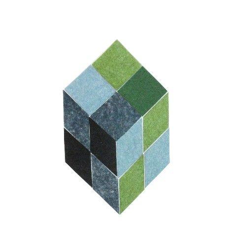 LL Cubes base Felt Op-Art