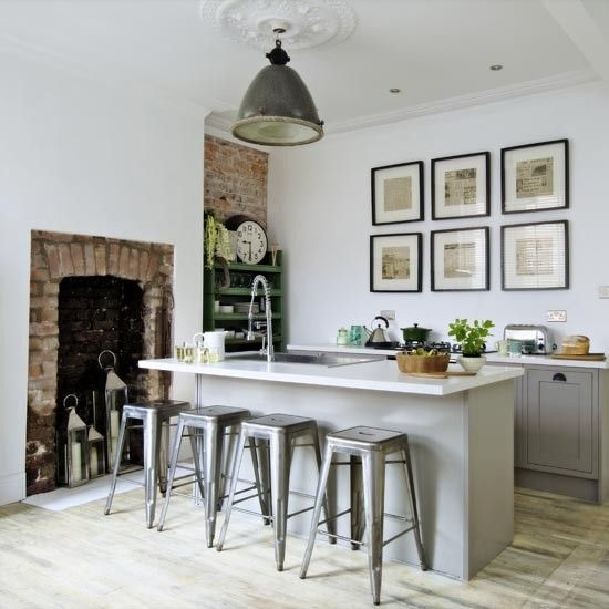 Simple but stylish.. Modern industrial-style kitchen diner | Makeover | Industrial-style kitchen | housetohome.co.uk