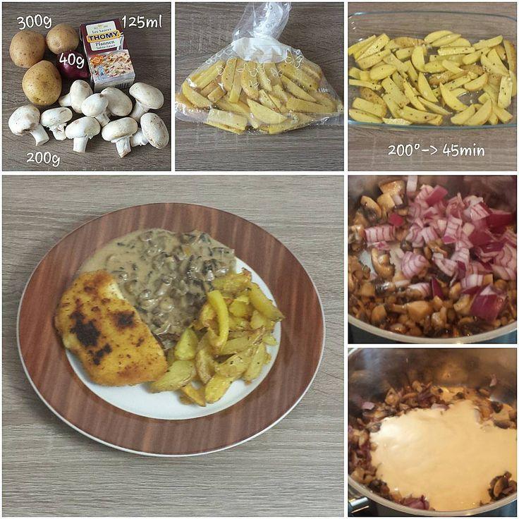 "Gefällt 2 Mal, 1 Kommentare - visual recipe step by step (@cookingwithm.e) auf Instagram: ""#Pommesfrites mit #Champignonrahmsauce. --------------- #Kartoffel #Pommes #Champignons #Pilze…"""