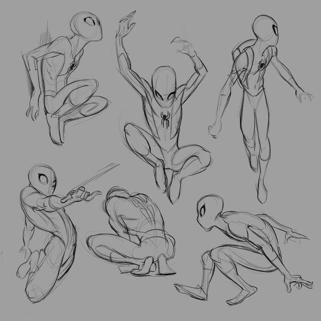 Spidey sketches by @malinfalch