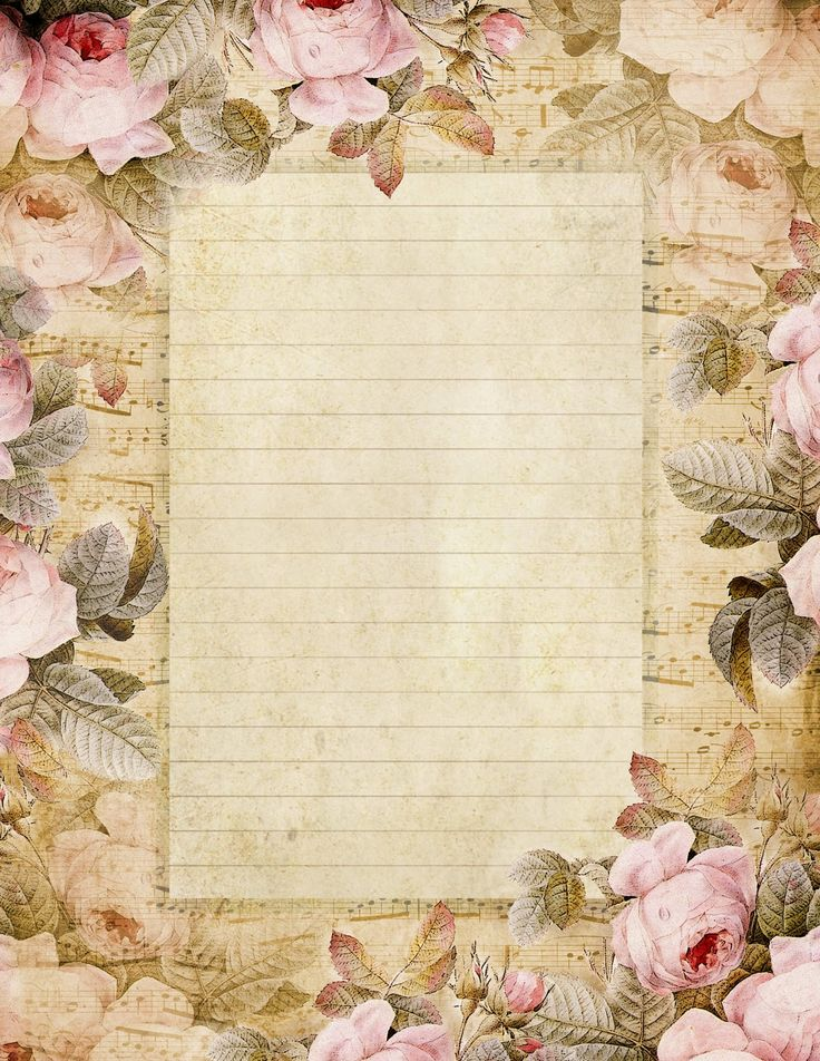 The Fairest Blossom ~ roses from an 1836 painting and french sheet music…