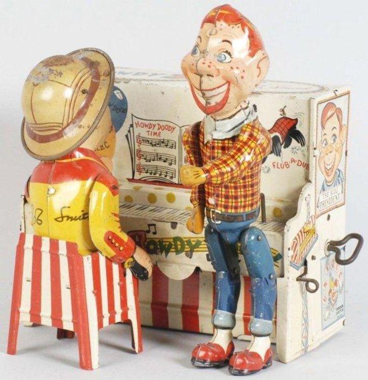 Tin Litho Unique Art Howdy Doody Piano Toy