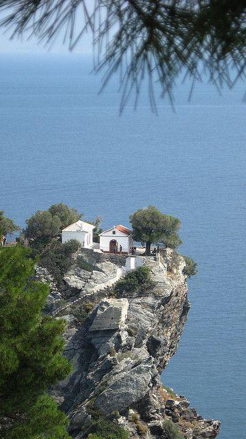 Greece Travel Inspiration - 'Mamma Mia' chapel - beautiful Skopelos, Greece