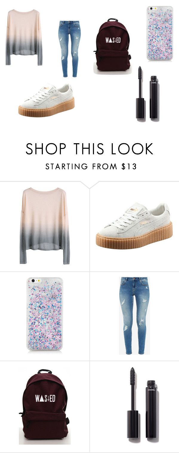 """Teen Girl Style"" by lifeissweet170000 ❤ liked on Polyvore featuring Puma, Ted Baker and Chanel"