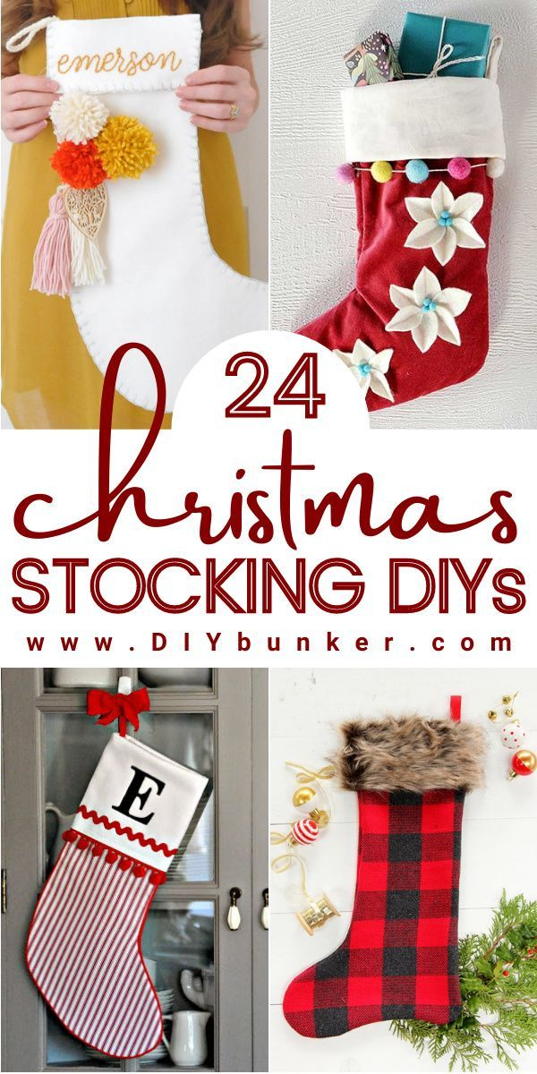 24 Diy Christmas Stocking Decorating Ideas To Make With Family Christmas Stockings Diy Christmas Sewing Projects Christmas Diy