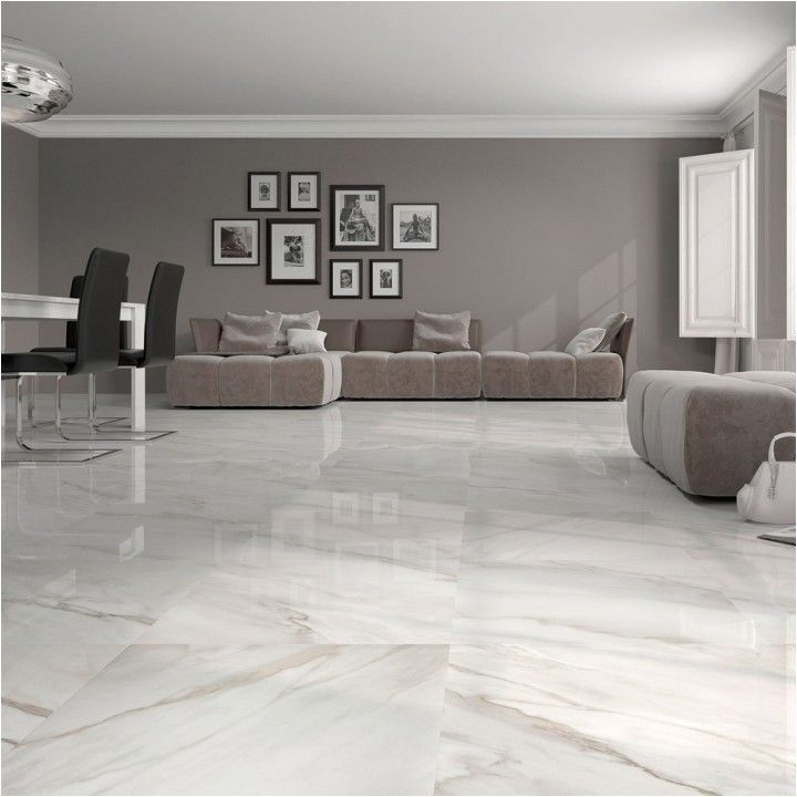 40 Stunning and Clean White Marble Floor Living Room ...