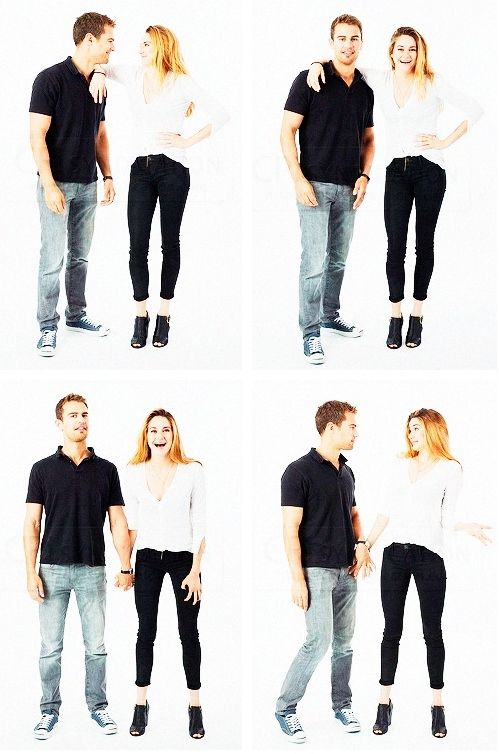 Theo James & Shailene Woodley's EW photoshoot outtakes from Comic-Con 2013.