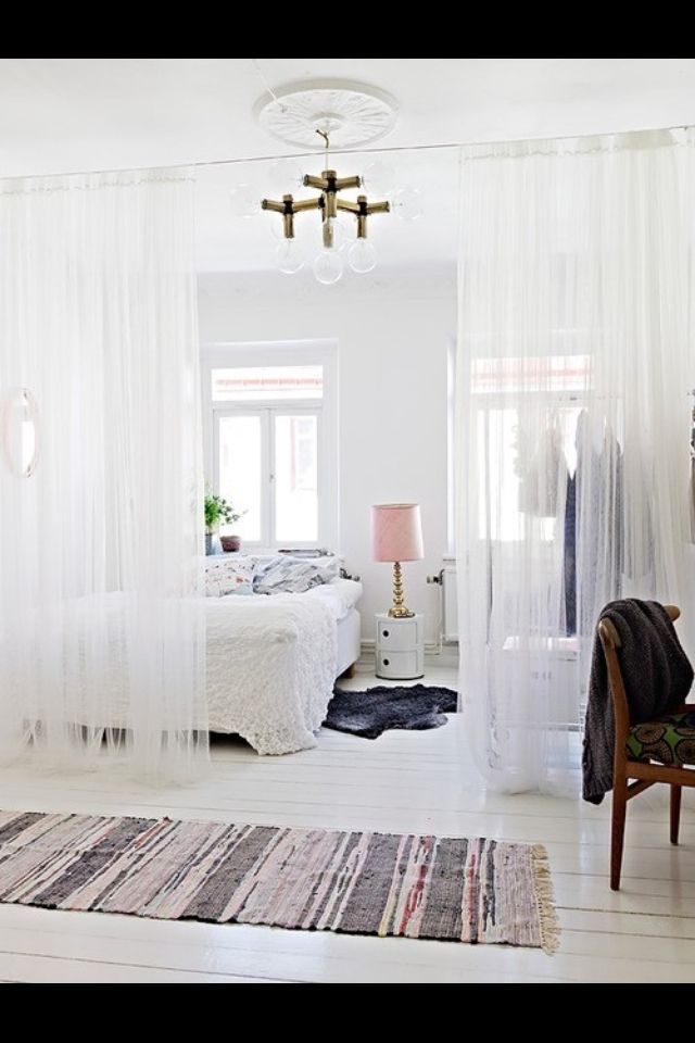 String Curtain Fringe Panel Decoration Room Divider 20: The Curtains, The Bed...the WHITE