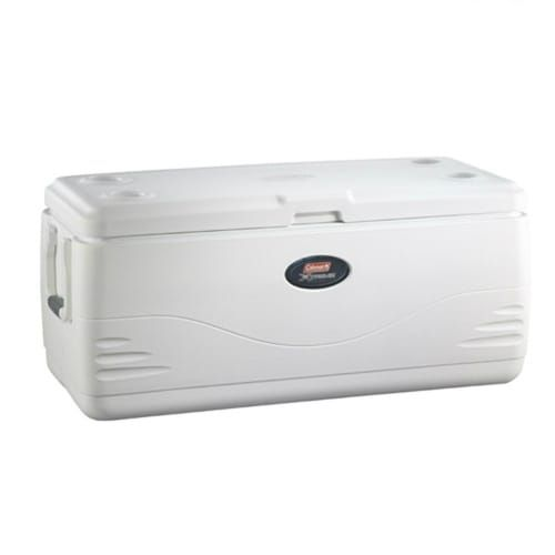 Coleman 150 Quart Heritage 6 XP H20 Cooler Marine Cooler, White ice (Steel)