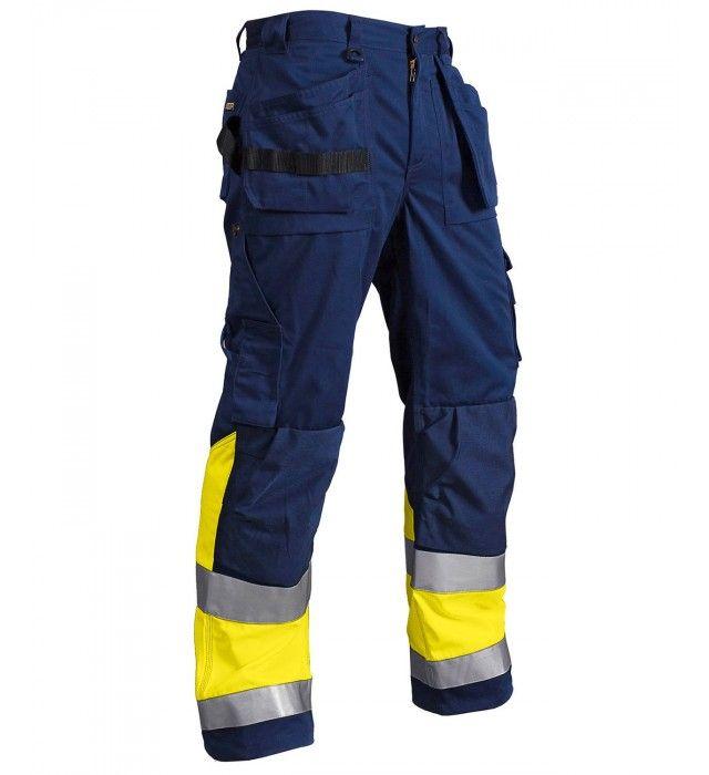 Blåkläder håndværkerbukser high-vis EN 20471, 100% bomuld