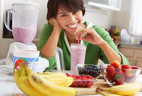 Protein Drinks Its always best to get protein from food. But if youre not getting enough from your diet, protein powders, bars, and supplements may help. You can also try making your own protein drink. Blend fat-free Greek yogurt, soy or skim milk, and fruit. For even more protein, add a tablespoon of peanut butter.