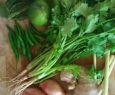 Rezept Grüne Currypaste von Faineantise - Rezept der Kategorie Grundrezepte