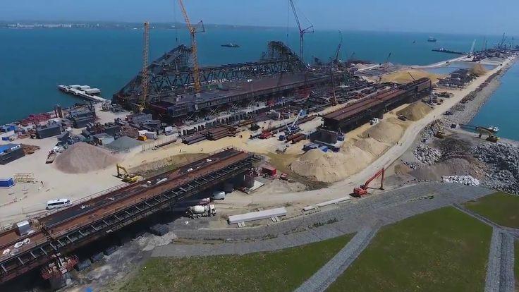 Ход строительства Крымского моста с квадрокоптера май 2017 год