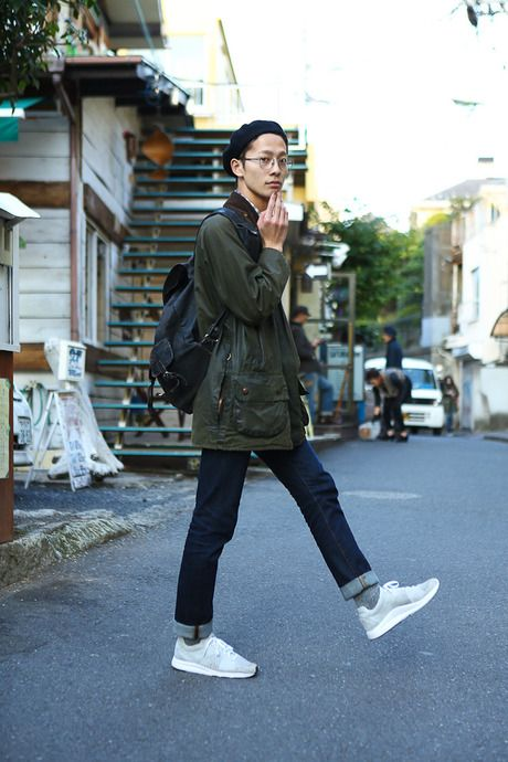 ストリートスナップ [DAIKI] | Barbour, J.Crew, PUMA, UNIQLO, used | 原宿 | Fashionsnap.com