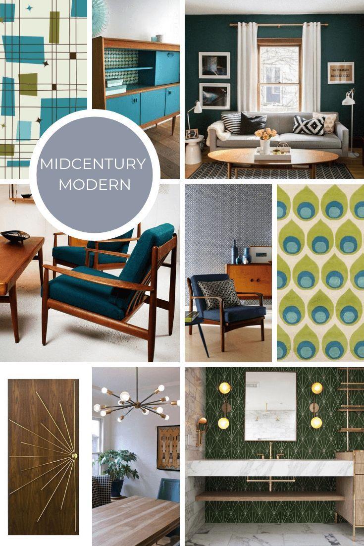 Midcentury Modern Interior Design Style Guide Design Guide
