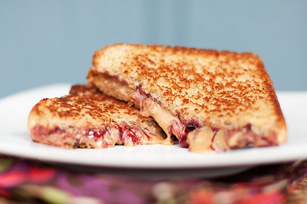 A grilled PB&J. I'm not a huge fan of the PB&J but I think I would like it much better this way.