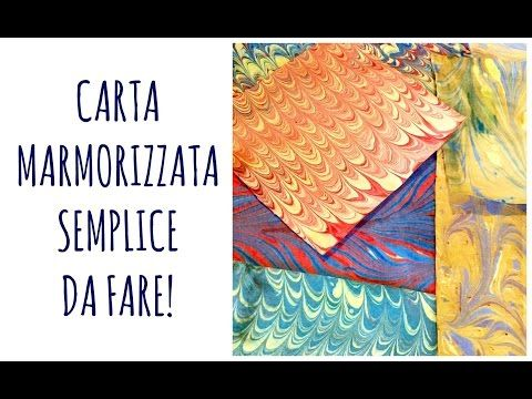 Tutorial come fare la CARTA MARMORIZZATA con la SCHIUMA da barba! (NO EBRU) by ART TV - YouTube
