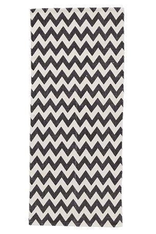Ellos Home Teppe Nicole 70x150 cm Mørk grå, Gul - Bomull- & filleryer | Ellos Mobile