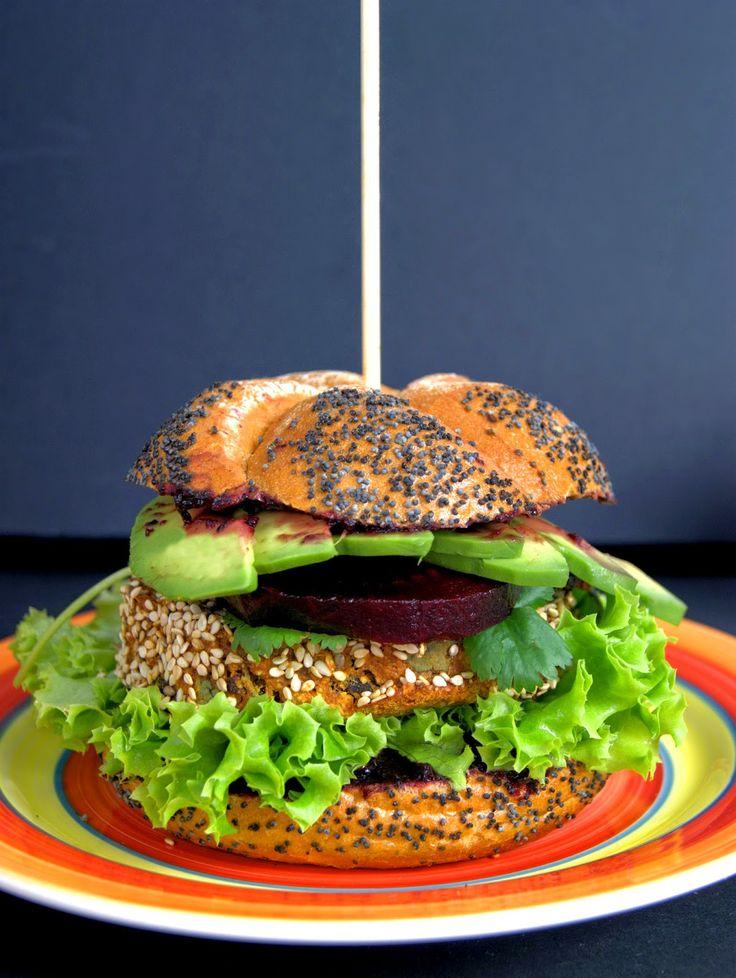szczypta smaQ: Wege burgery z czerwonej fasoli i batatów