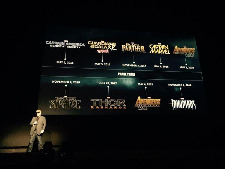 Marvel anuncia sus próximas películas