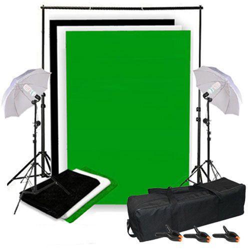 Teleskop Fotolampe Hintergrundsystem Hintergrund Weiß Schwarz Grün Schirme Blitz #camera