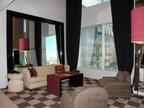 Living Room of the Skyloft Suite at MGM Grand in Las Vegas, NV