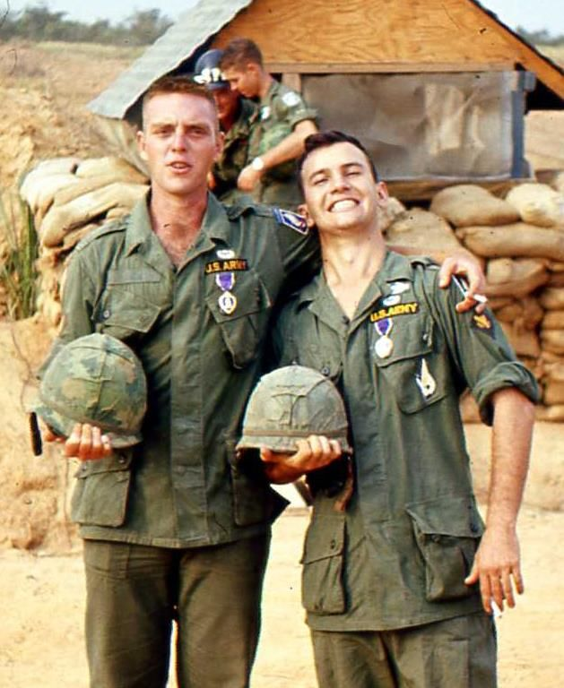 Men of the 173rd Airborne Brigade awarded Purple Hearts.