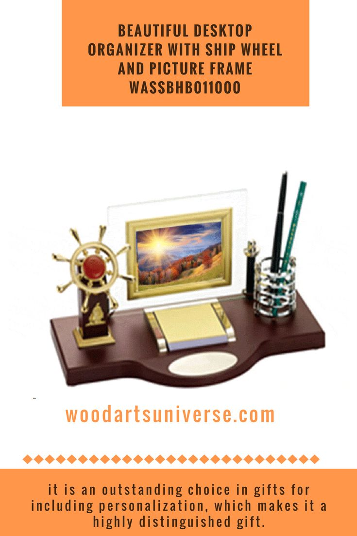 Upto 65% off  Elegantly finished nautical desk organizer features ship wheel, photo frame, memo holder and a pen holder. Treasure your beautiful memories in this wonderful photo frame.   #freeshipping #sale   http://woodartsuniverse.com/catalog/product_info.php?cPath=28&products_id=525