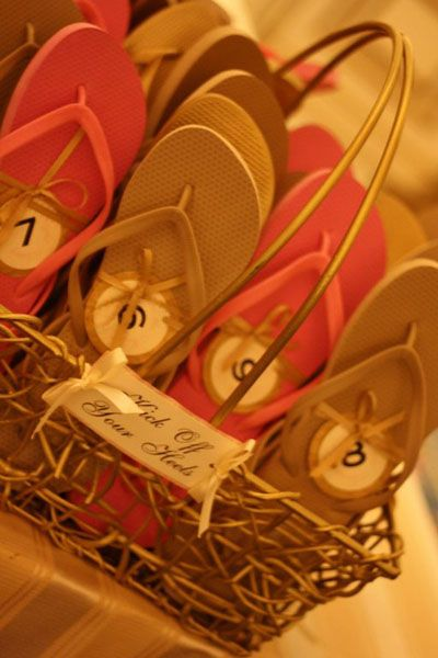 Real Weddings: Amber and Tom :  wedding features Flip Flop Baskets Flip Flop Baskets
