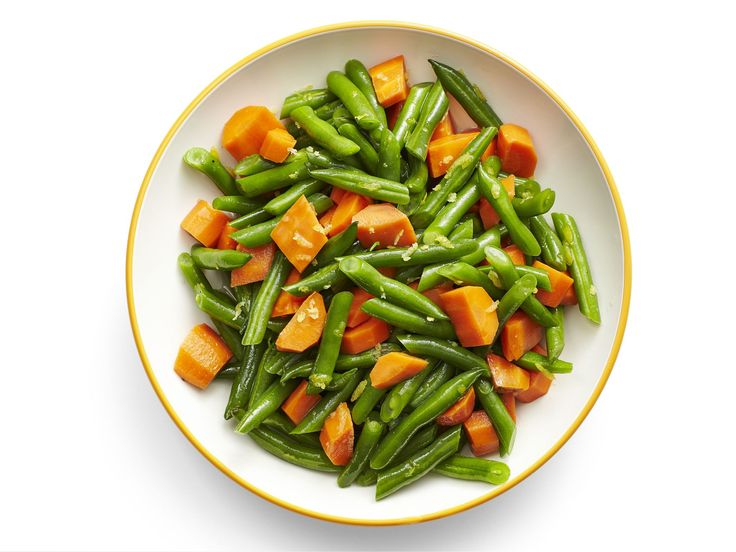 Honey-Glazed Carrots and Green Beans recipe from Food Network Kitchen via Food Network
