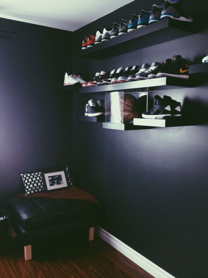 My sneaker wall display.