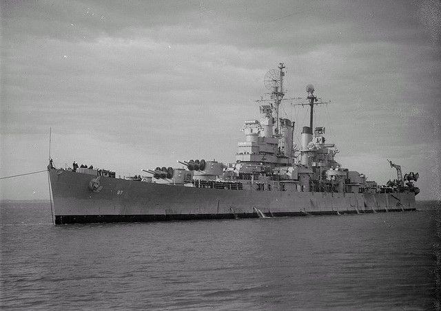 Cleveland class light cruiser USS Duluth (CL-87), May 17, 1947.