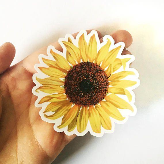 Sunflower Sticker Vinyl Vintage Sticker Car Sticker