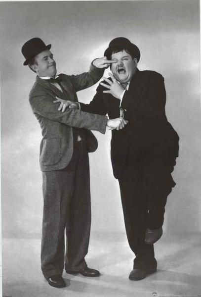 A great poster of Stan Laurel and Oliver Hardy - the classic slapstick comedy duo Laurel and Hardy - whose gags will never get old! Fully licensed - 2007. Ships