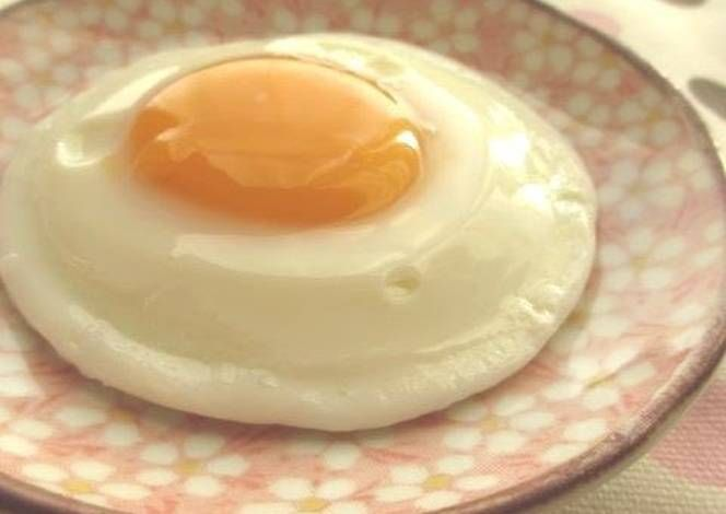 Microwave egg in a bowl: 1tbsp water, crack egg into bowl, poke yolk w toothpick, cover, nuke 30 sec, then 30 sec again. More if want less runny