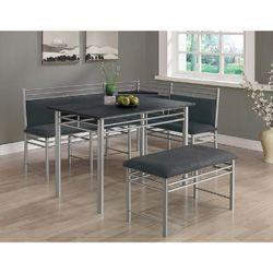 18 Best Dinette Tables Images On Pinterest  Table Settings Diner Prepossessing Black And Silver Dining Room Set Design Decoration