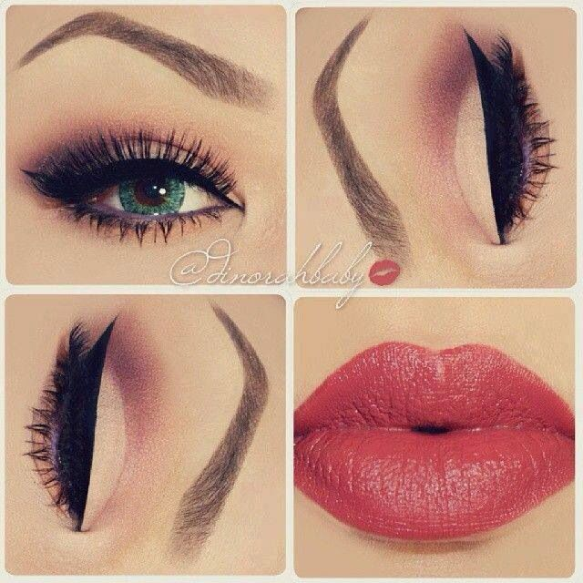 LOVE THE LIP COLOR AND THIS IS A SOFT DAY LOOK MAKEUP VERY NICE