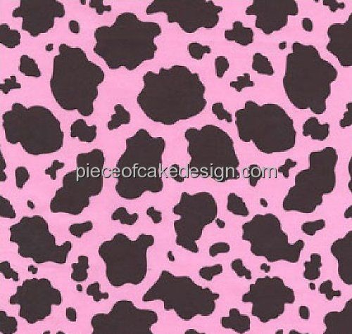 Nail Cake Blue Black Splodges Cow Print: Pink Cow Print Background