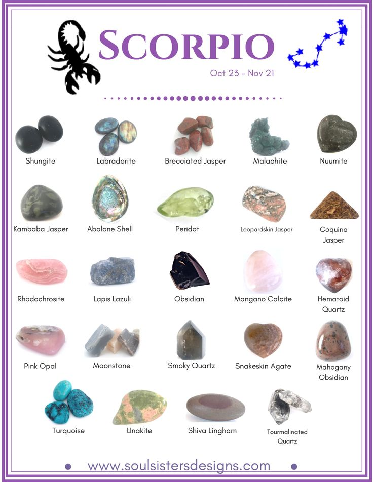 Scorpio Healing Crystals by Soul Sisters Designs