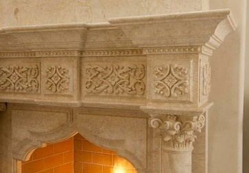 mediterranean fireplaces by AVID Associates LLC