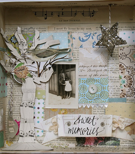 Pam Garrison shadow box collage