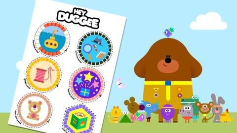 Hey Duggee and the the Squirrels with new badges