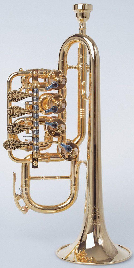 Martin Schmidt Rotary Valve Piccolo Trumpet --- https://www.pinterest.com/lardyfatboy/