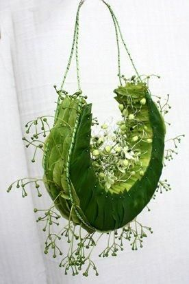 Stunning floral bridal purse. Designer unknown.