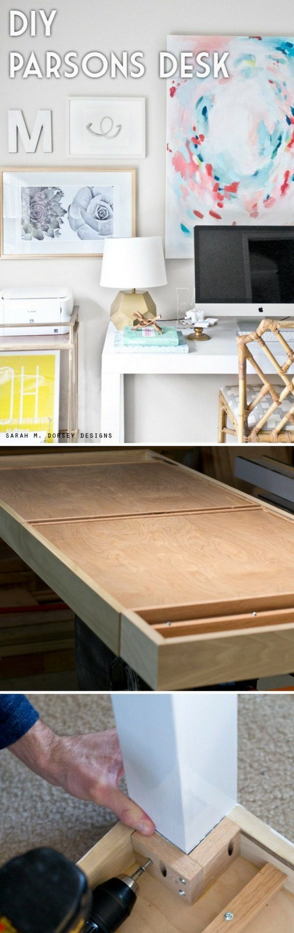 Check out the tutorial how to build a DIY parsons desk @istandarddesign