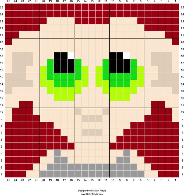 Dobby Head 1 | Designed by PixiTrix (Kimberly Allard) | Stitch Fiddle - Stitch…