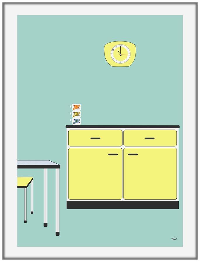 17 meilleures images propos de cuisine r tro for Affiche cuisine retro