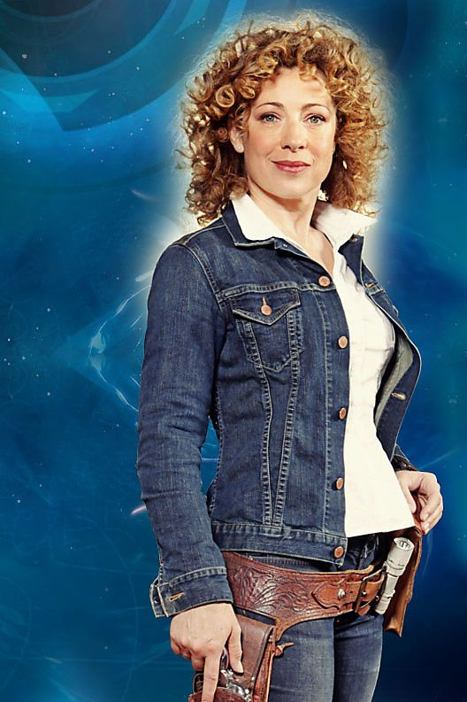 River Song - only woman who can wear a demin jacket with jeans and not look lame. I LOVE HER.